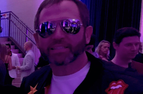 TOP GUN: Ripple CEO Brad Garlinghouse at an 80s themed holiday party. (Modern Consensus)