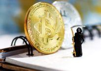 Bitcoin and the Grim Reaper may have a closer relationship than anyone would like (via Shutterstock).