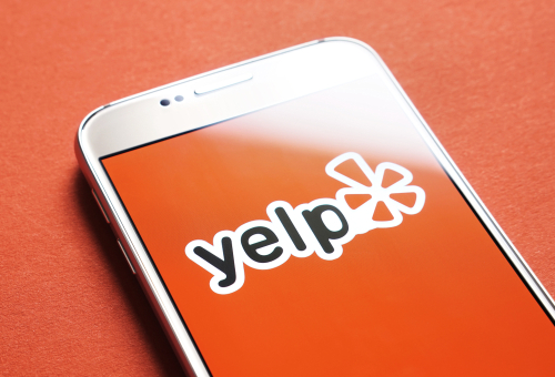 "Yelp is a good name because ""Kvetch"" can cause autocorrect problems (via Shutterstock)."