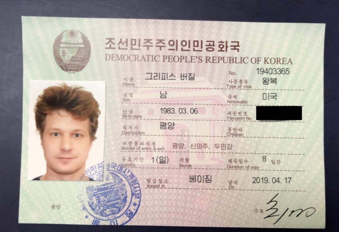 To avoid prison, do not tweet your illegal North Korean visa (via Twitter).